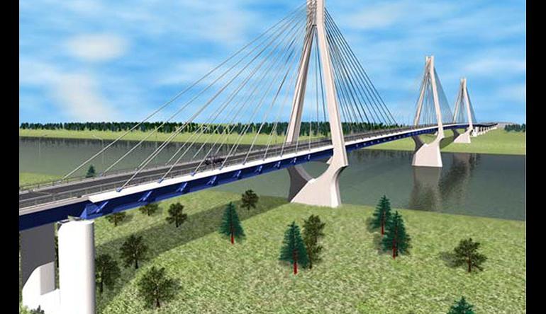 Власти Югры ищут инвесторов для строительства второго моста через Обь