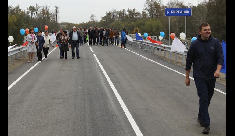 Новый мост через реку Кирганик запустили на Камчатке